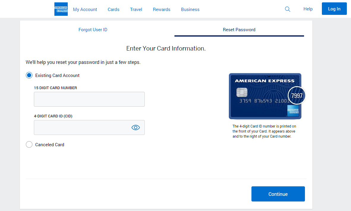 American Express recovery