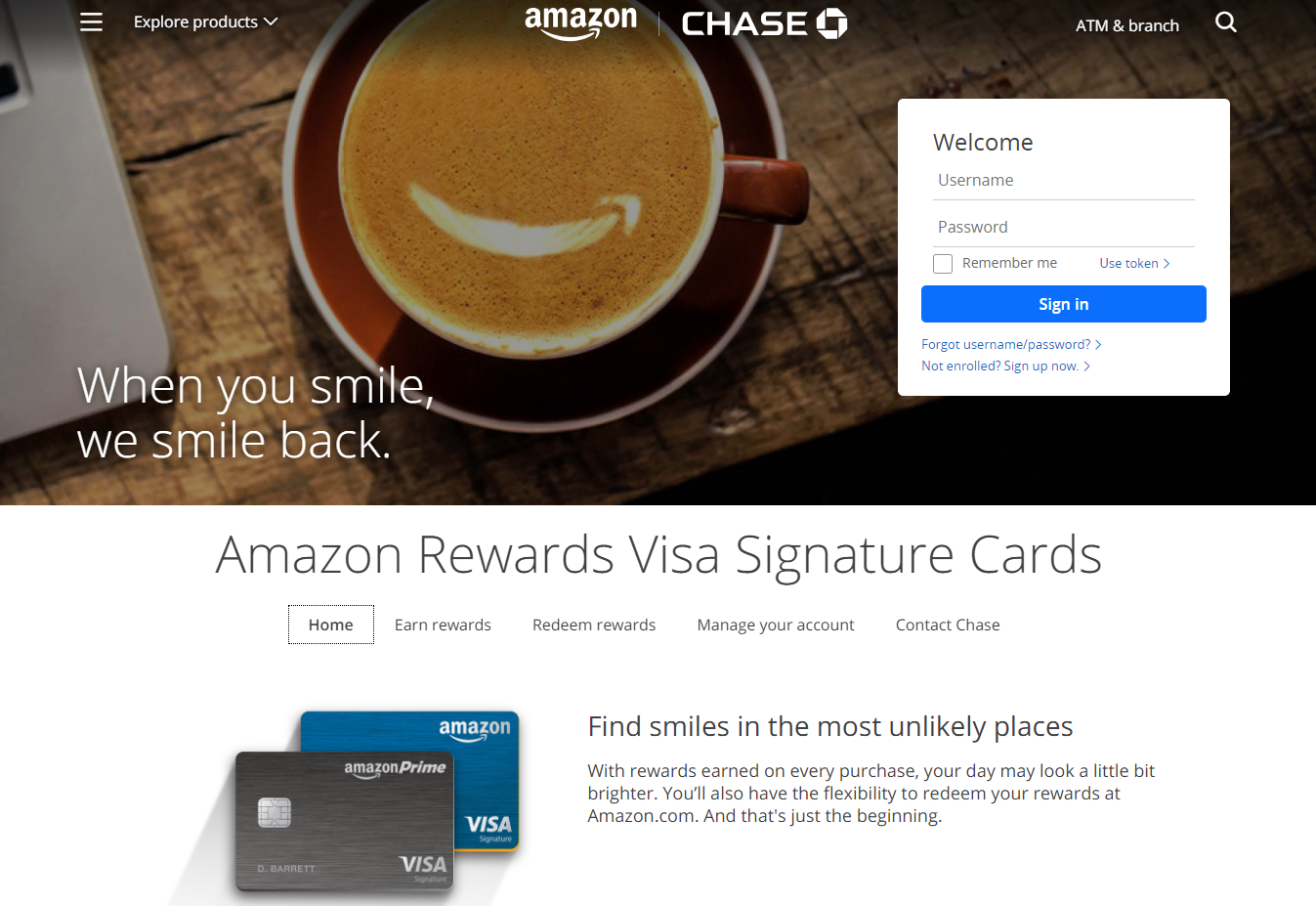 Amazon Rewards Card Credit Cards chase com