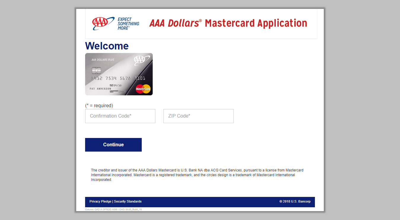 Aaa Mastercard Login >> Www Acgcardservices Com Myoffer Enter Confirmation Code To Apply