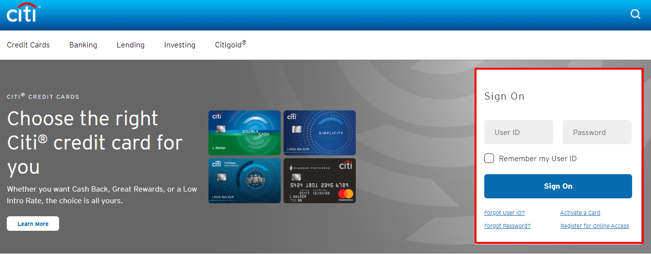 Banking with Citibank