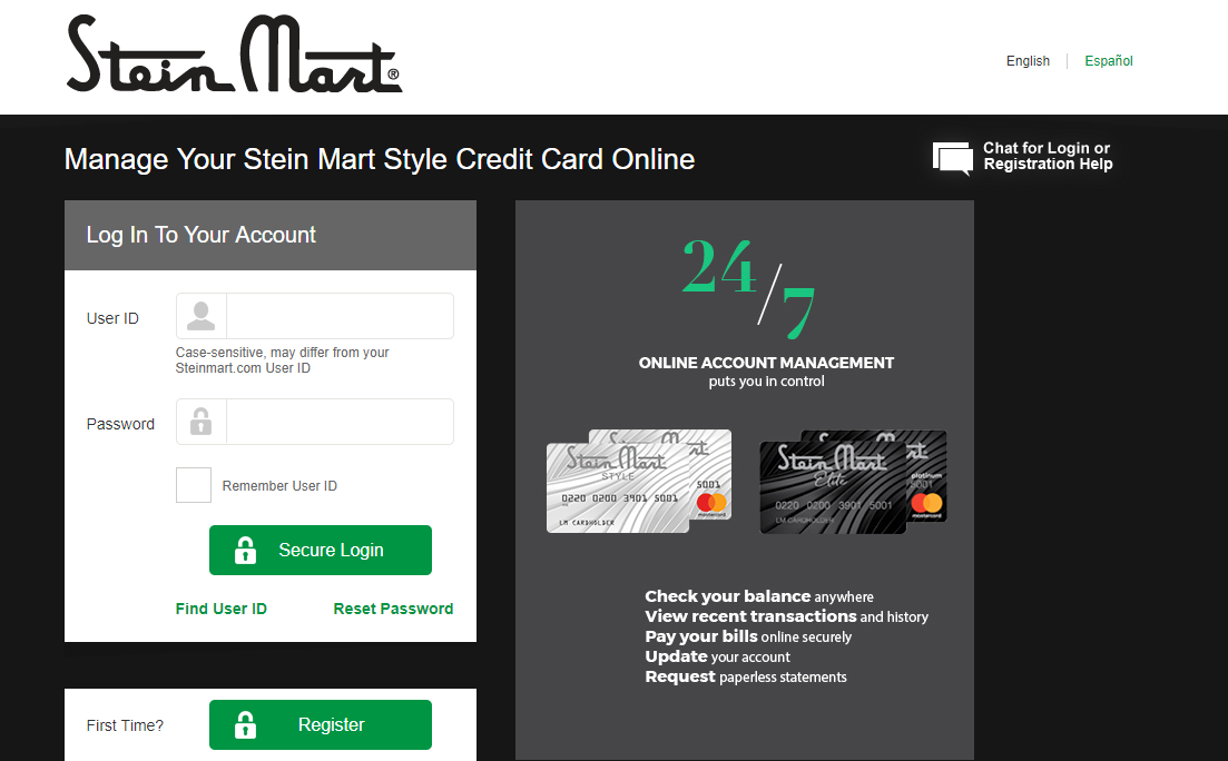 Manage Your Stein Mart Credit Card Account