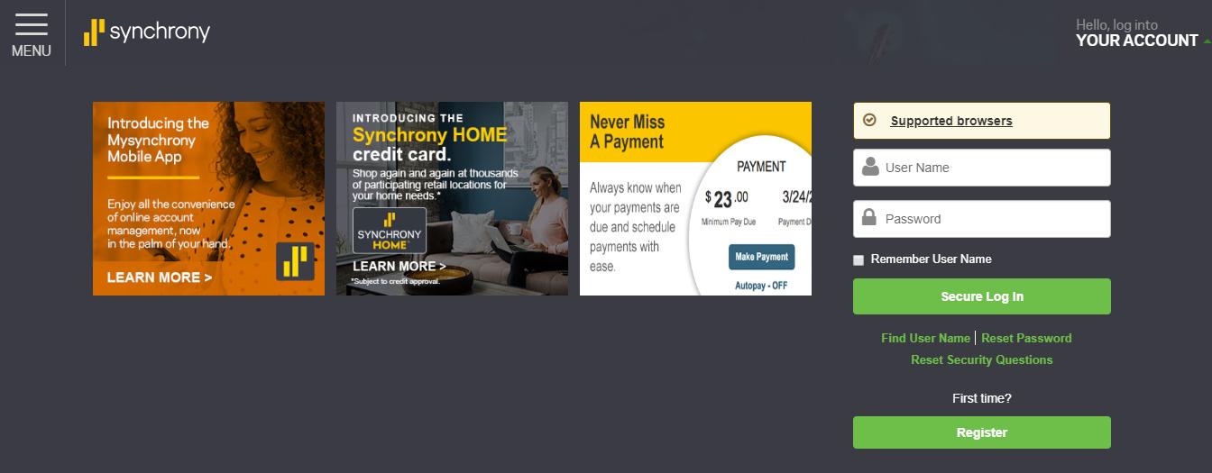 aamco synchrony car care credit card login credit cards login. Black Bedroom Furniture Sets. Home Design Ideas