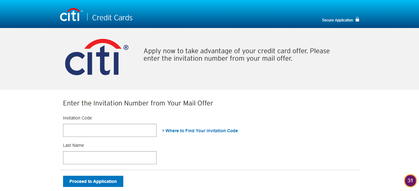 Apply for a credit card Citi