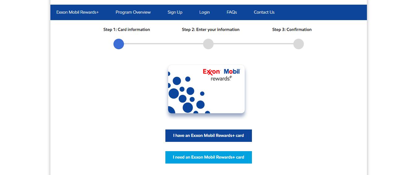 Exxon Mobil new registration