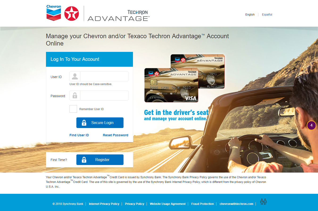 Manage Your Chevron U S A Inc Credit Card Account