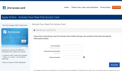 Activate Your New First Access Card