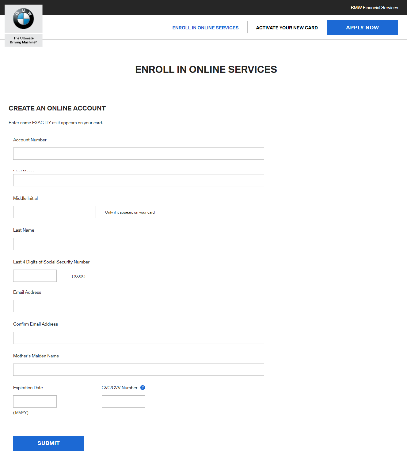 Enroll in Online Services