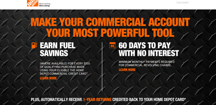 www.hdcardbenefits.com – Home Depot Commercial Credit Card