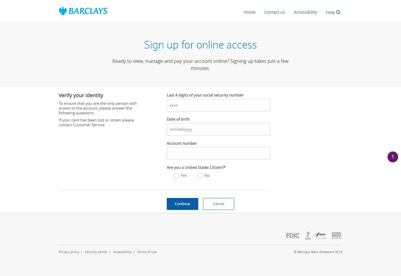 Barclays MasterCard login