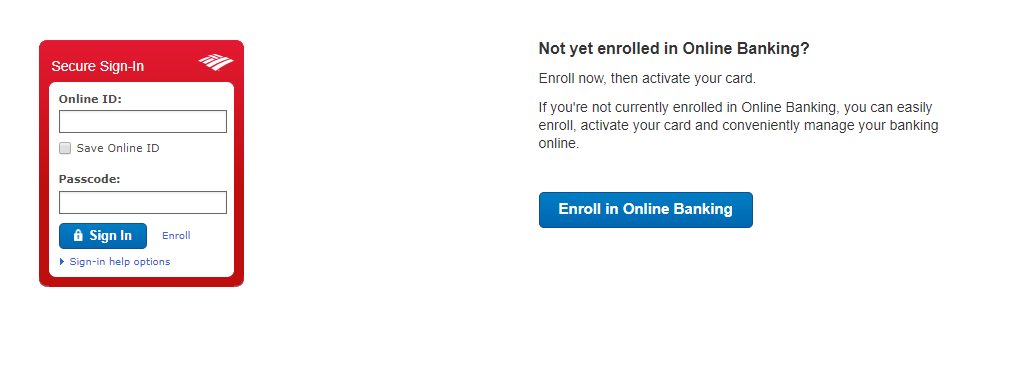 Bank of America Card Activation login