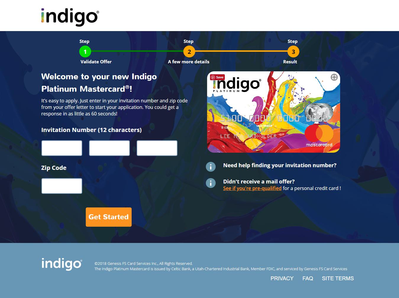 www.indigoapply.com - Apply for Pre-Approved Indigo Platinum
