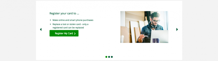TD Bank Gift Card Home Page