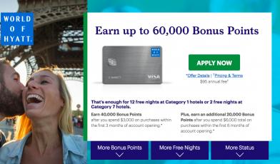 World Of Hyatt 60 000 Bonus Points