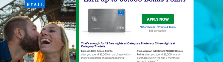 World Of Hyatt 60 000 Bonus Points