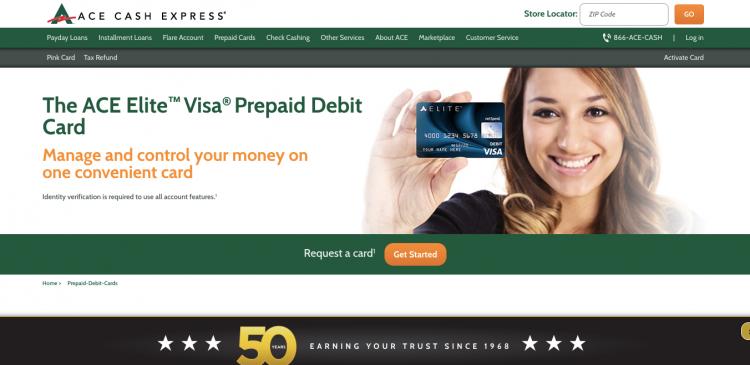 www.aceelitecard.com - ACE Elite Visa Prepaid Debit Card - Credit