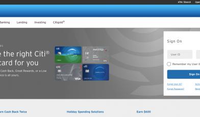 Banking with Citi Citi com