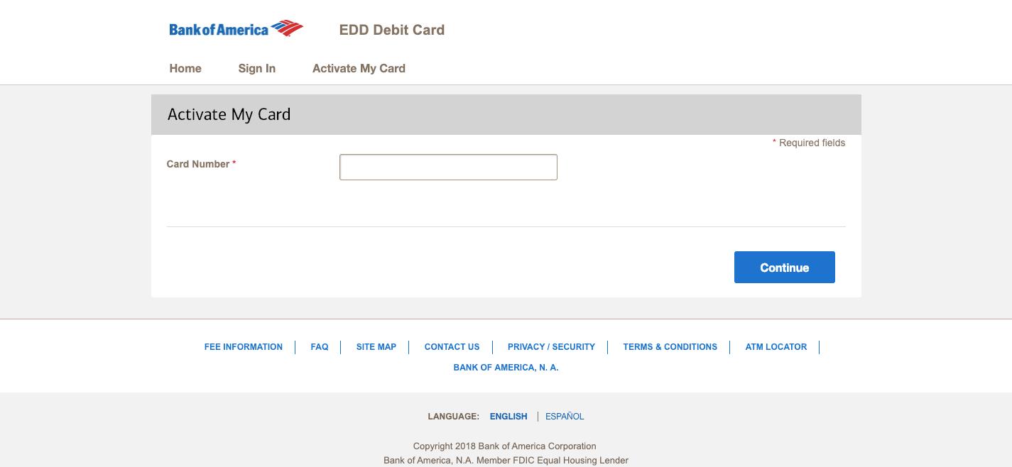 prepaid.bankofamerica.com/EddCard -Bank of America EDD Debit Card
