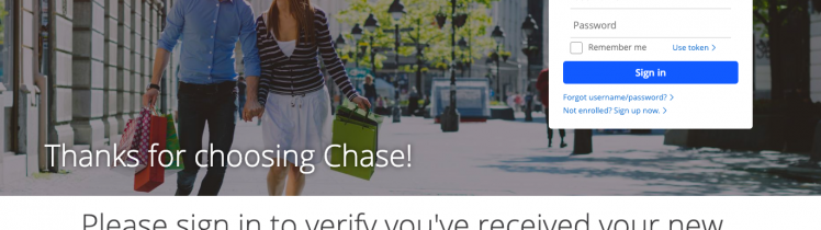 Verify Receipt of your Credit Card Credit Cards Chase
