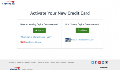 capital one activate