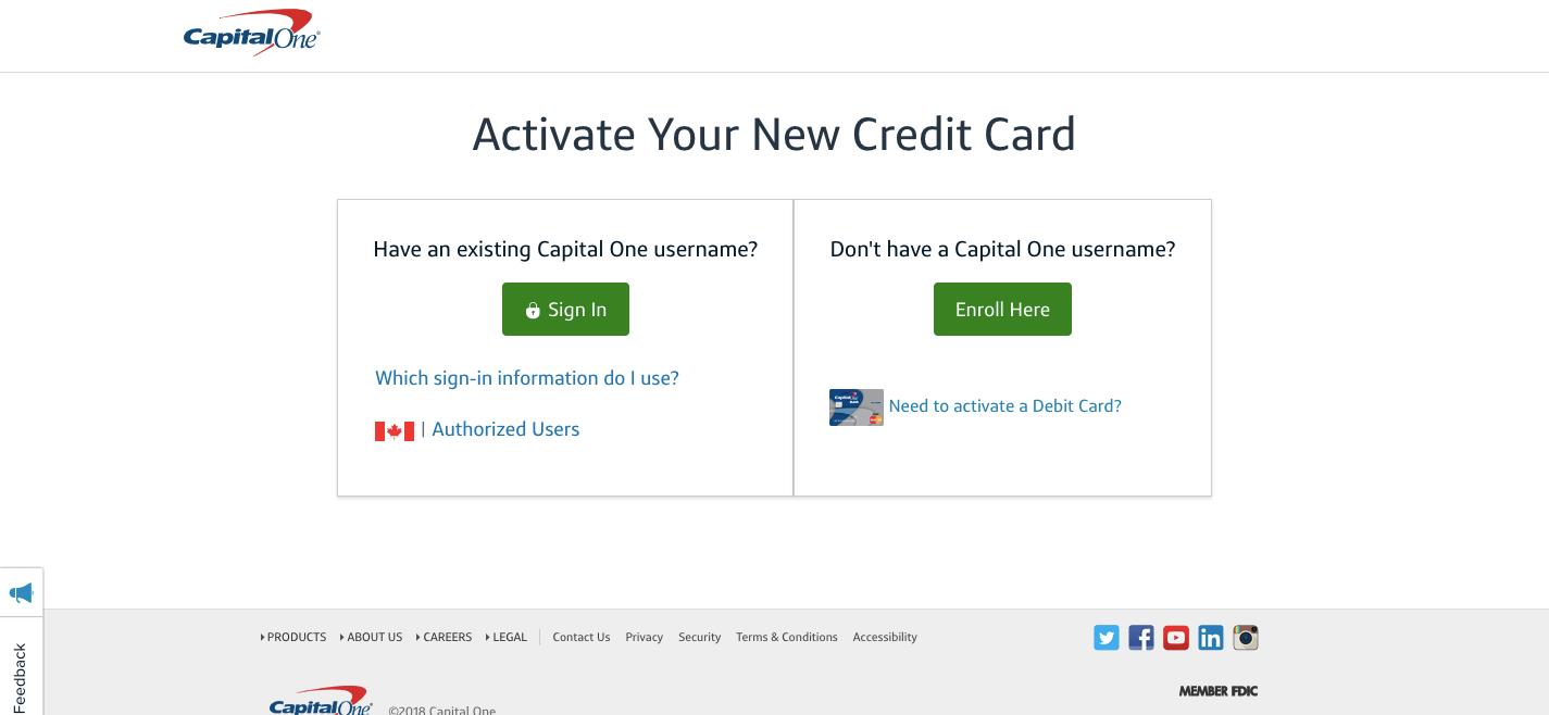 www capitalone com credit card login