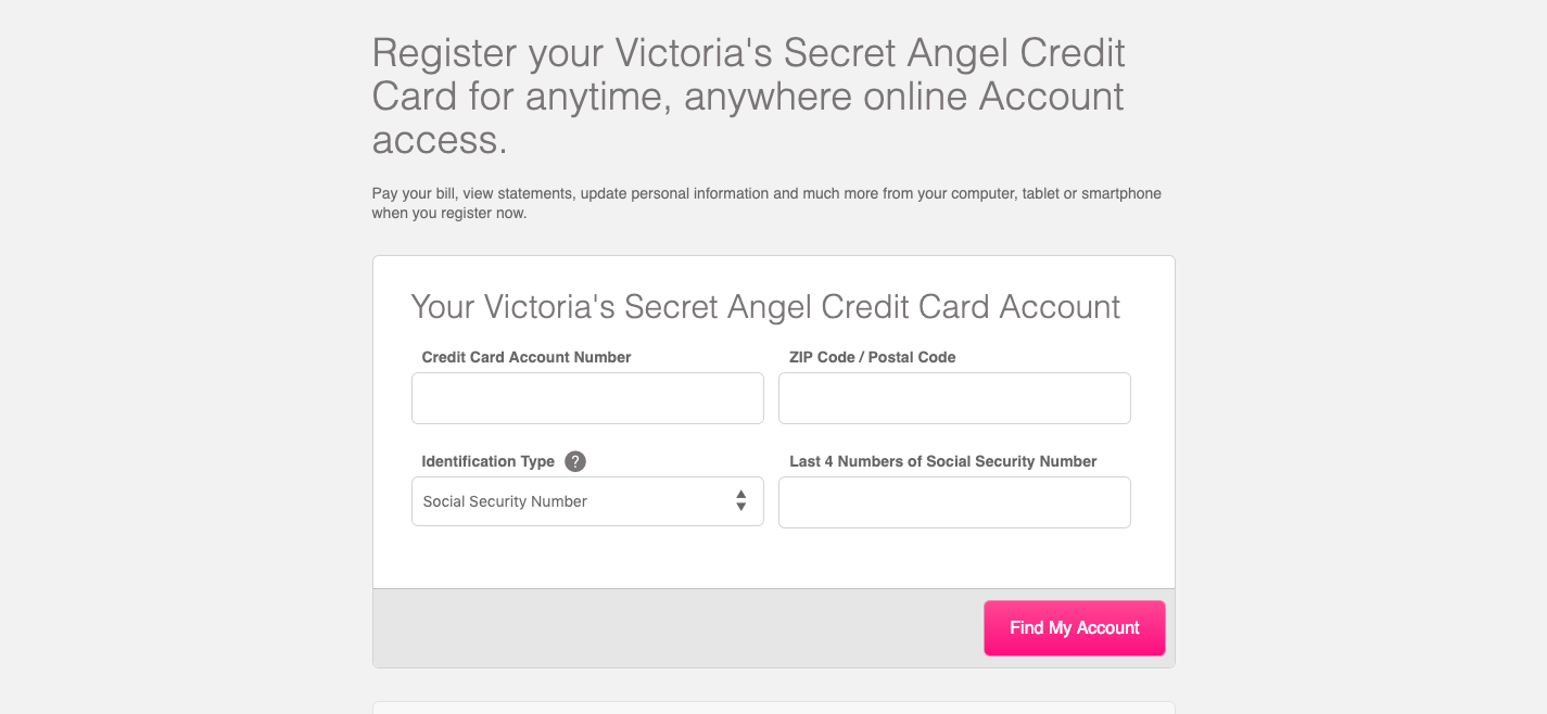 Victoria s Secret Angel Credit Card enroll