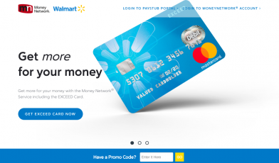 Walmart Money Network Exceed Card