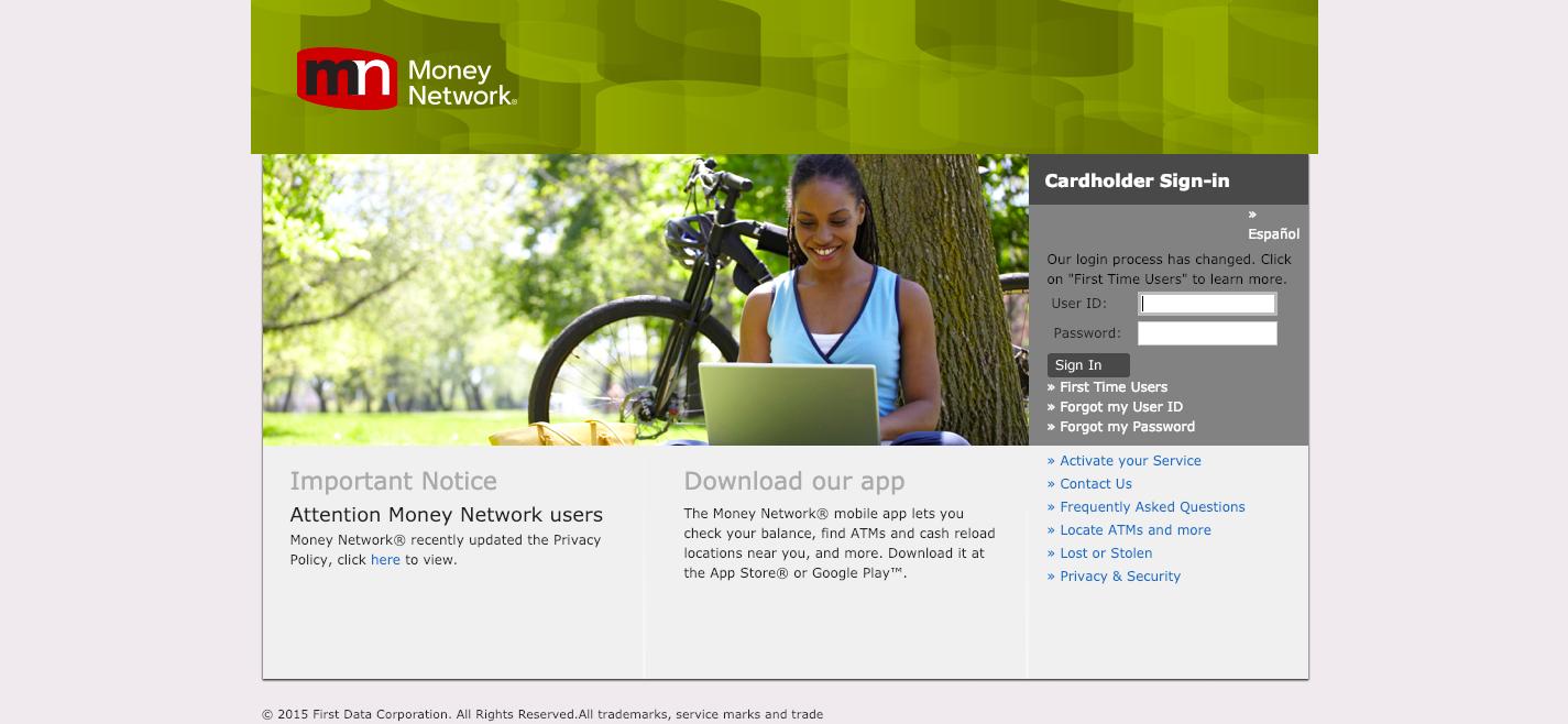 money network login