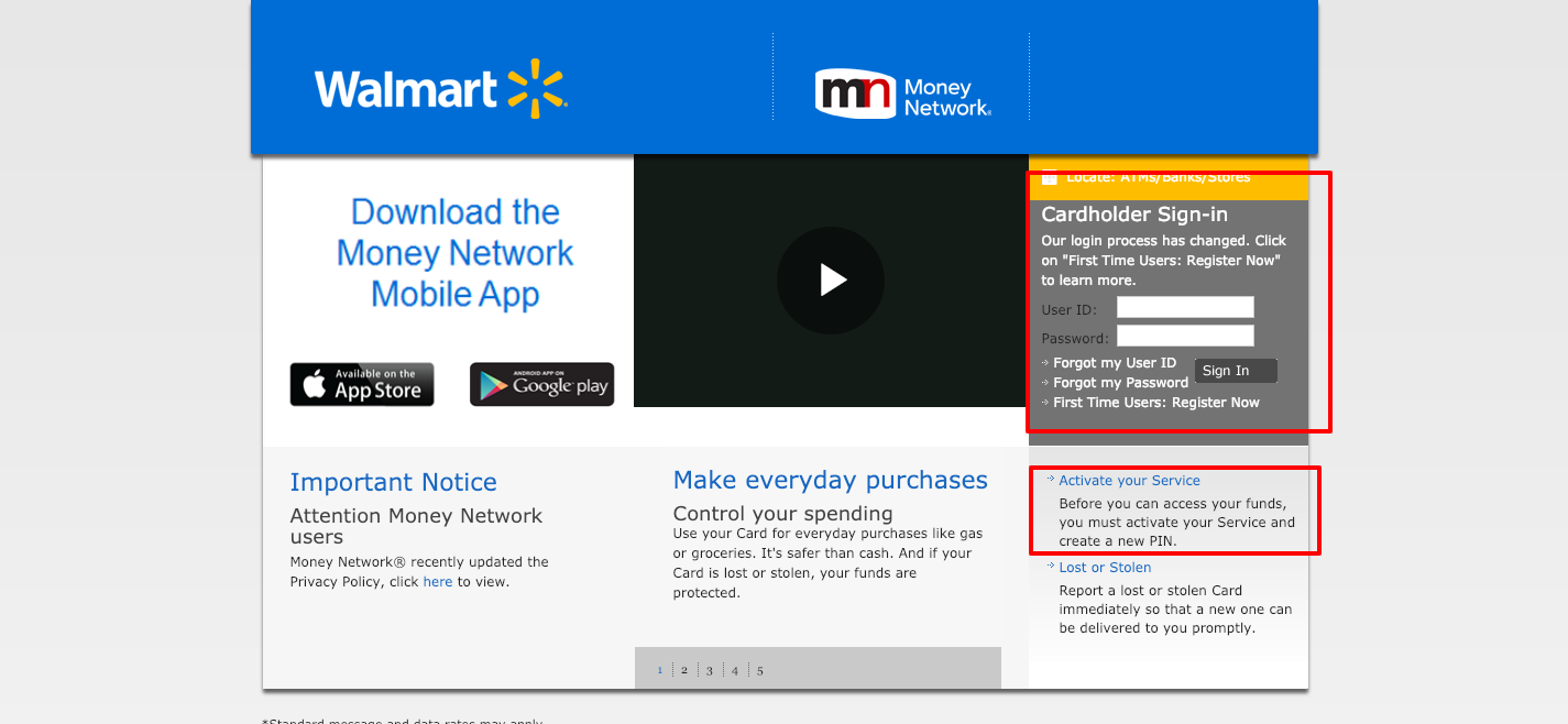walmart everywherepaycard com