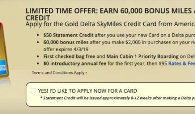SkyMiles Delta card