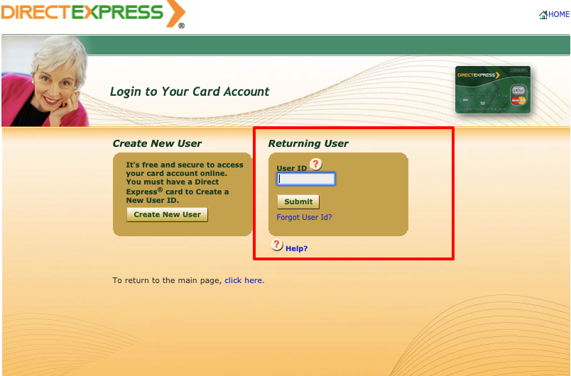 Direct Express card login