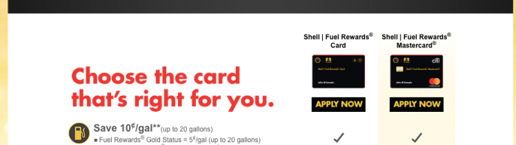 The Shell Fuel Rewards® Credit Cards