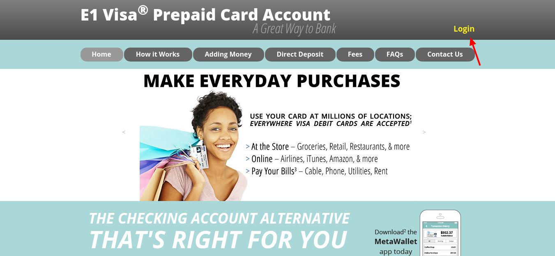 www e1card com - E1 Visa Prepaid Card Login - Credit Cards Login