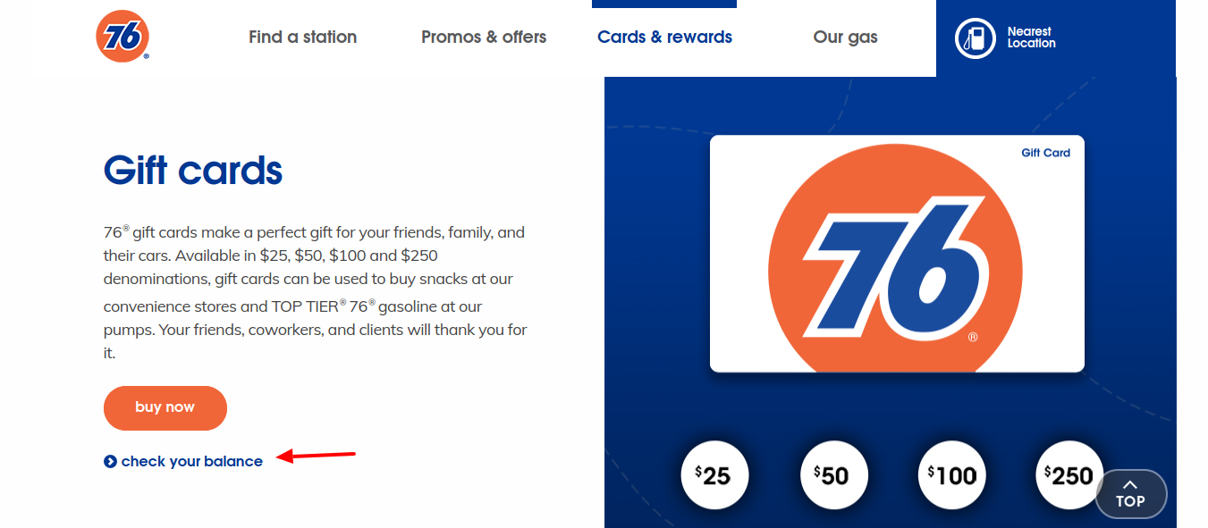 How To Check 76Gass Gift Card Balance Online