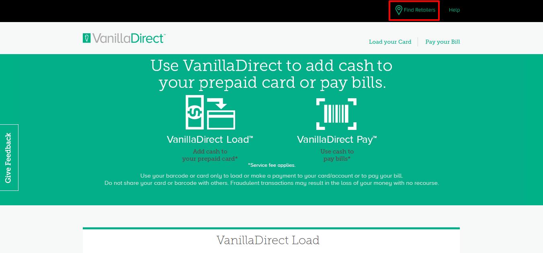 VanillaDirect find store