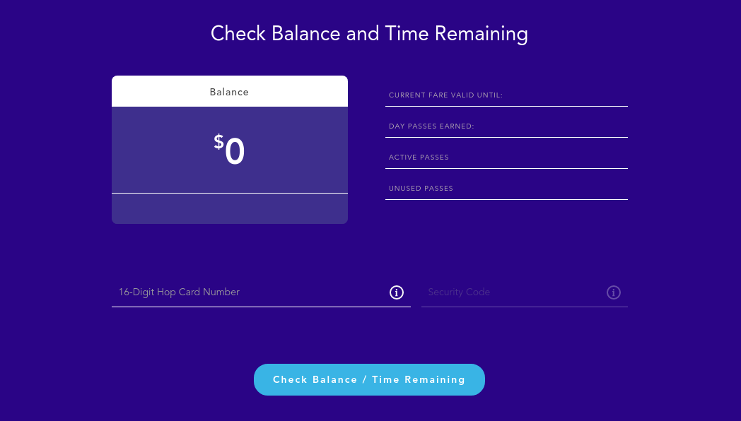 Check Your Hop Card Balance
