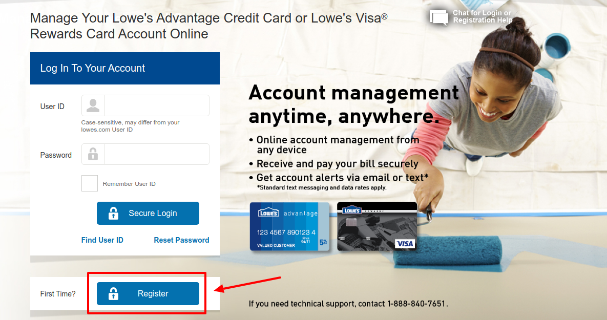 Lowe s Credit Card Account Register