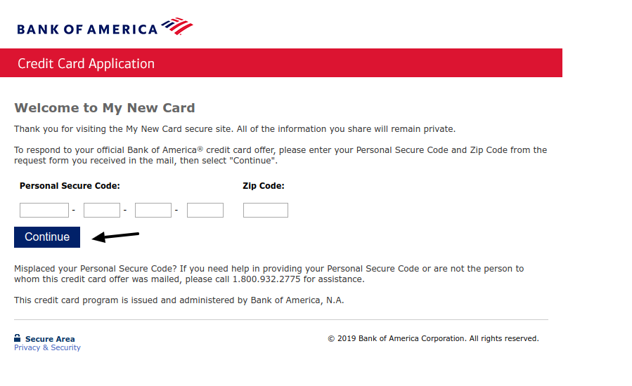 My New Card Bank of America Credit Card Pre qulify