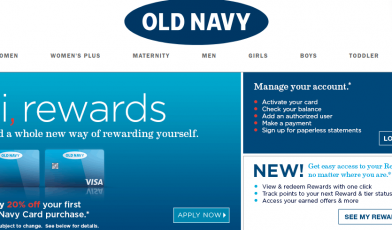 Old Navy Credit Card Logo