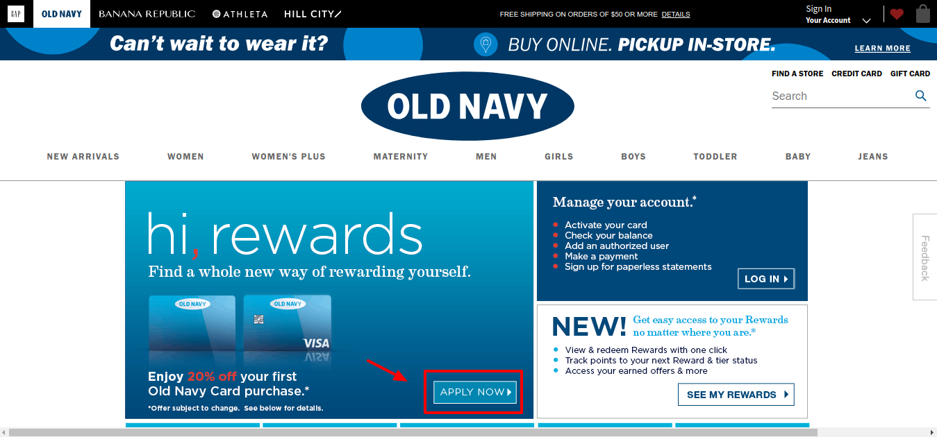 Old Navy Credit Card Rewards Old Navy