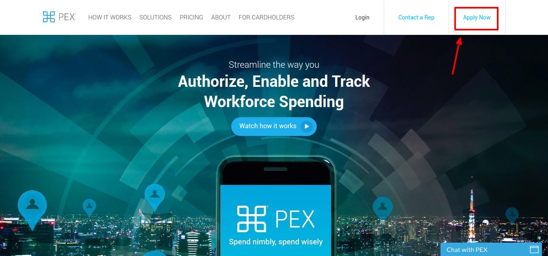 PEX Prepaid Card Apply