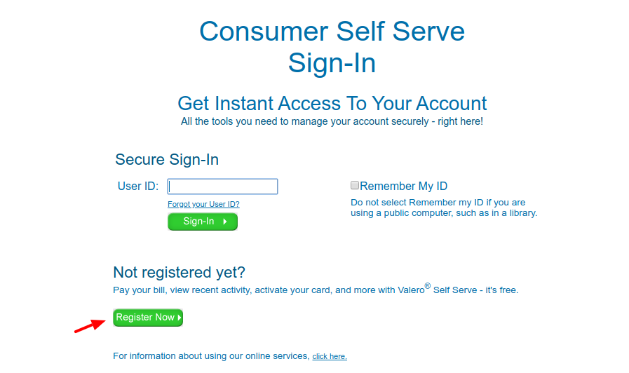 Self Serve Register