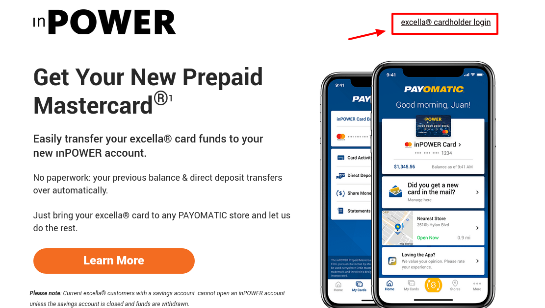 excella Card inPOWER Card Access