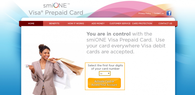 smiONE Visa Prepaid Card Logo