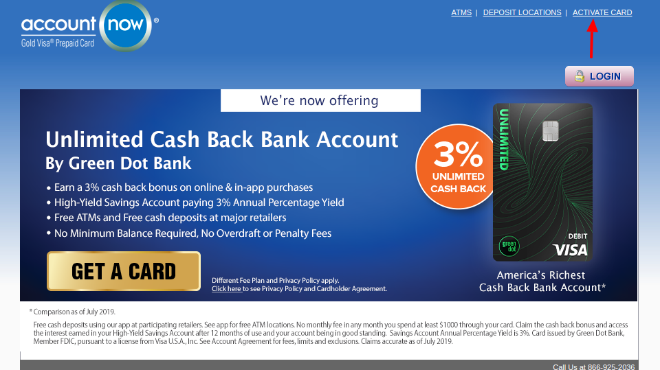 AccountNow Prepaid Card Activate