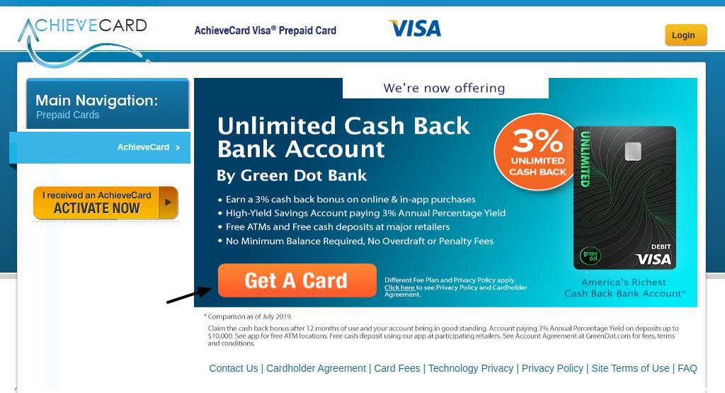 AchieveCard Get A Card