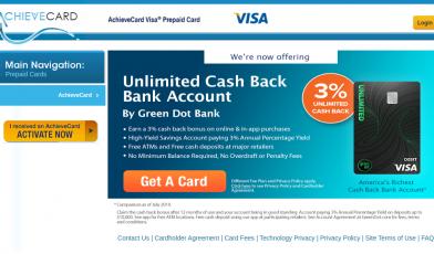 AchieveCard Prepaid Card Logo