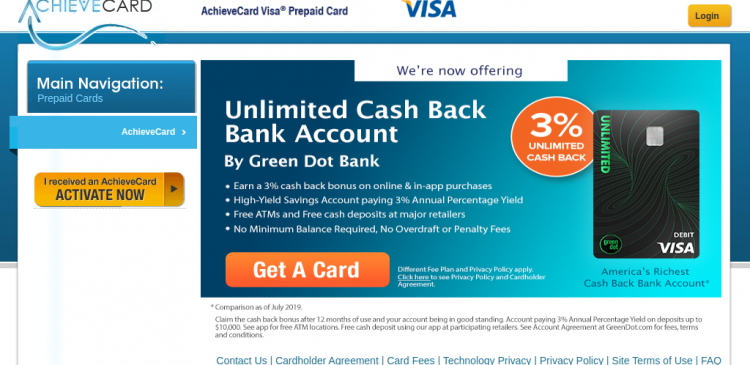 Citibank Secure Login >> www.achievecard.com - Login Into Your AchieveCard Visa ...