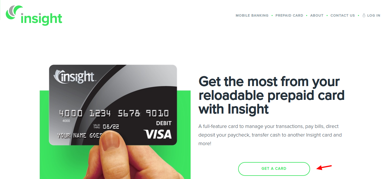 Insight Prepaid Debit Card Get a Card