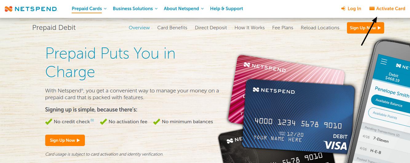 Netspend Prepaid Card Activate