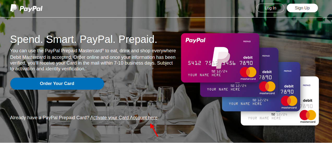 PayPal Prepaid Mastercard Activate